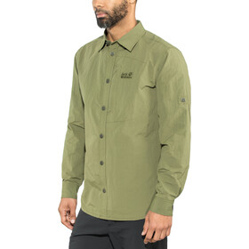 Jack Wolfskin Lakeside Chemise à manches retroussables Homme, woodland green
